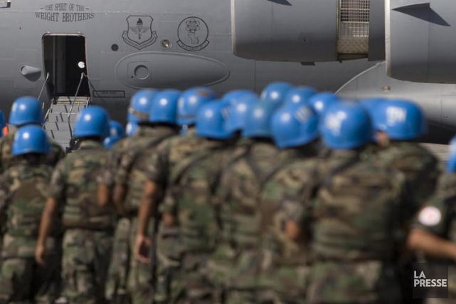 Avec ses 106 casques bleus - 75 policiers,... (ARCHIVES LA PRESSE)