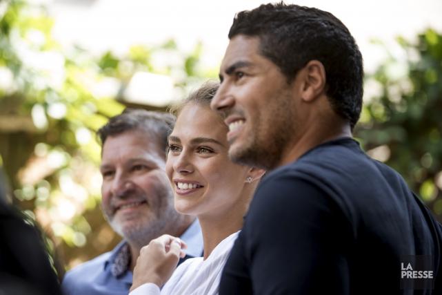 Mario Jean (à gauche), Maripier Morin et Francis... (La Presse, Marco Campanozzi)