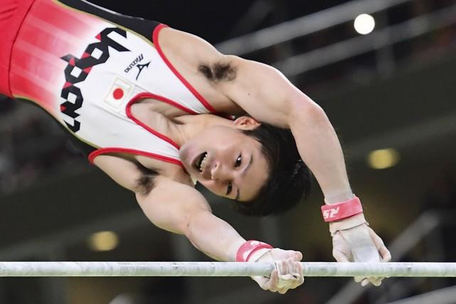 Kohei Uchimura a remporté son deuxième concours général... (AFP, Emmanuel Dunand)