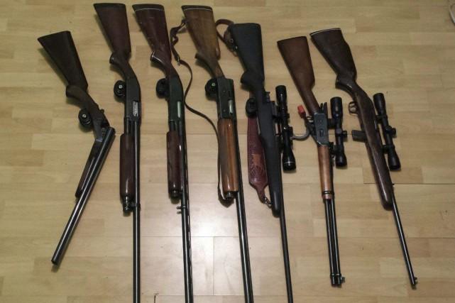 Le propriétaire déplore le vol de sept armes.... (tirée de Facebook)