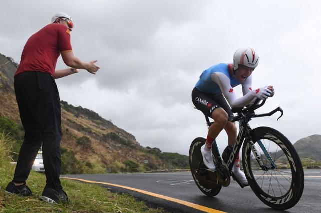 Hugo Houle a tout donné sur le parcours... (AFP)