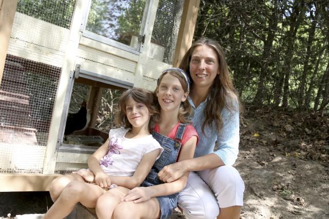 Andrée Royer et ses filles, Marie-France, 10 ans,... (Julie Catudal)