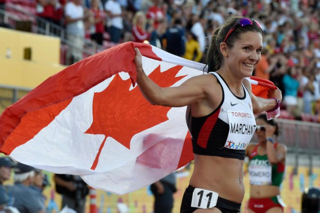 Lanni Marchant a remporté le bronze au 10... (photo Frank Gunn, archives la presse canadienne)