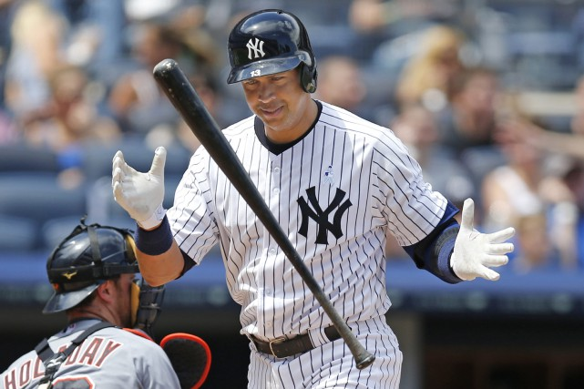Alex Rodriguez disputera son dernier match vendredi au Yankee... (Photo Kathy Willens, AP)