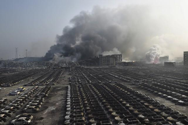 En août 2015, de gigantesques déflagrations parties d'un... (AFP, Benjamin Haas)