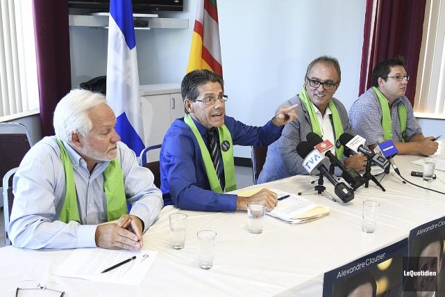 Normand Letendre, président par intérim de l'association péquiste... (Photo Le Quotidien, Mariane L. St-Gelais)