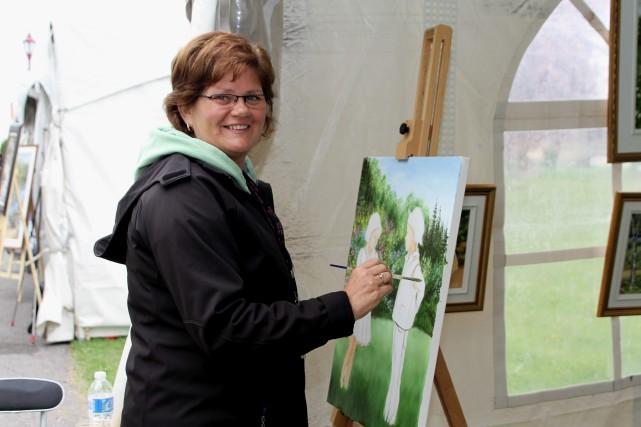 La peintre Nicole Tremblay agit à titre d'invitée... (Photo courtoisie)