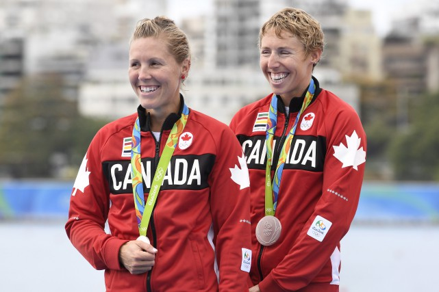 Les rameuses canadiennes Lindsay Jennerich et Patricia Obee... (Photo Frank Gunn/AP)
