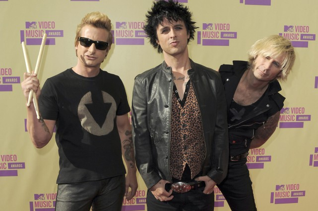 Tre Cool, Billie Joe Armstrong et Mike Dirnt... (PHOTO ARCHIVES AP)