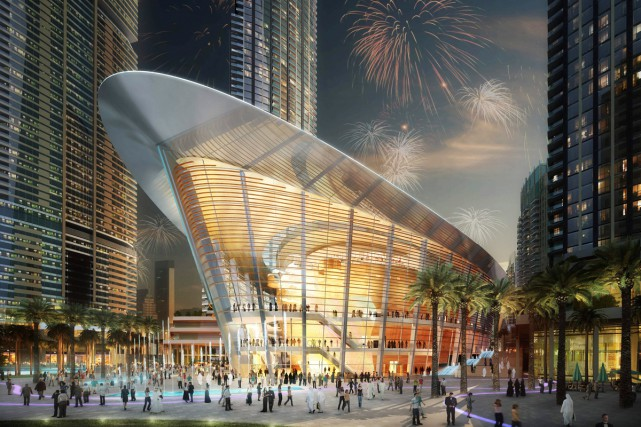 La forme de l'Opéra de Dubaï s'inspire de... (PHOTO AFP)