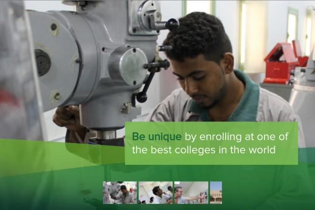 Tout comme l'ensemble du système d'éducation saoudien, les... (Capture écran du site internet du College algonquin)