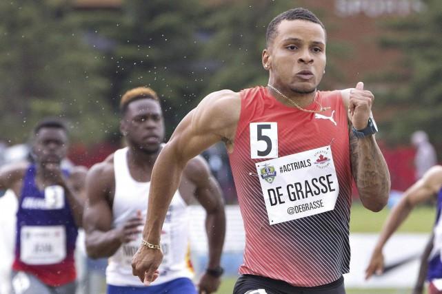 Andre De Grasse tentera de se qualifier au... (Archives La Presse canadienne, Jason Franson)