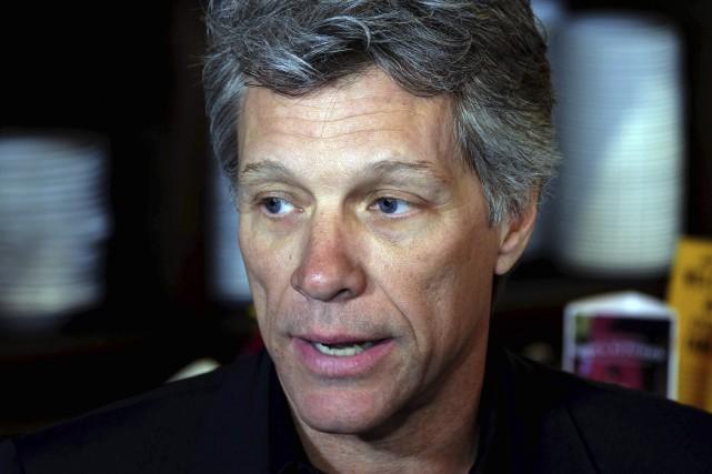 Jon Bon Jovi et ses acolytes ont annoncé... (AFP, Jewel SAMAD)