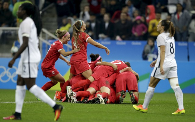 La victoire de 1-0 contre la France vendredi... (La Presse Canadienne)