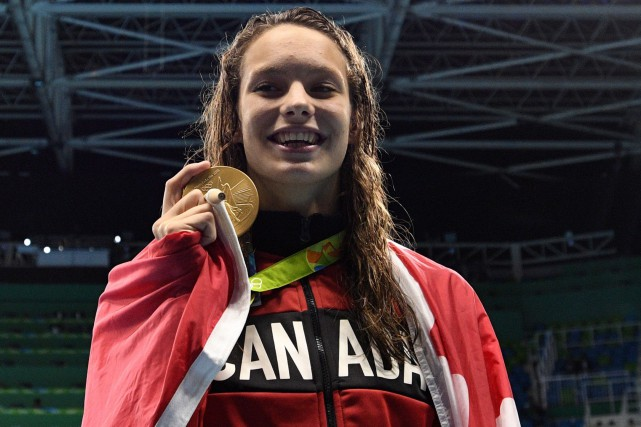 Penny Oleksiak... (La Presse Canadienne)