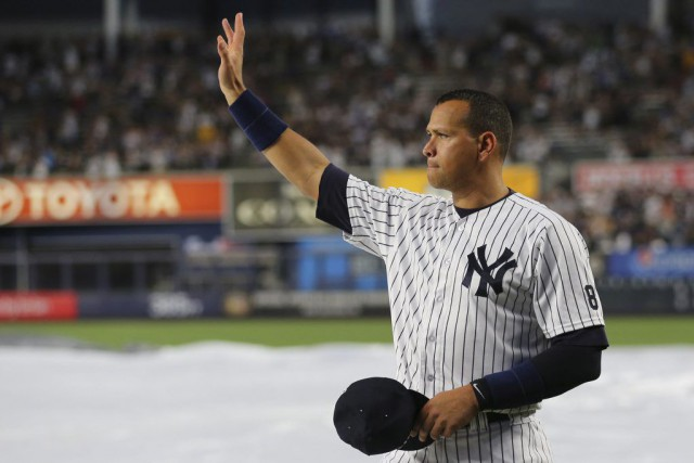 Alex Rodriguez a disputé son dernier match avec les... (PHOTO ANTHONY GRUPPUSO, USA TODAY)
