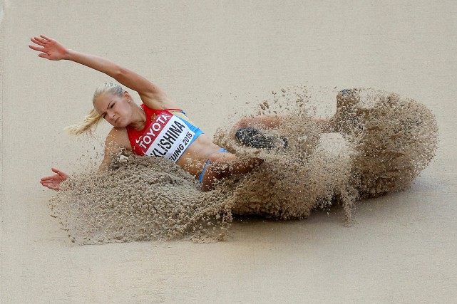Darya Klishinaétait la seule athlète russe repêchée par... (PHOTO DYLAN MARTINEZ, ARCHIVES REUTERS)