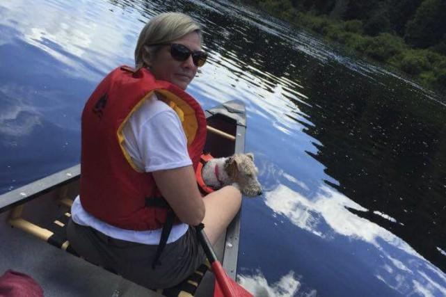 Cet été, Karine Lepage a fait du canot... (Photo courtoisie)