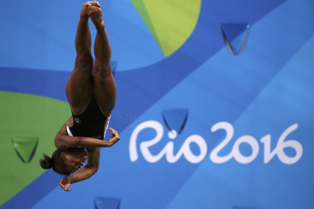 Jennifer Abel... (PHOTO Marcos Brindicci, REUTERS)