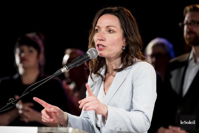La candidate à la direction du Parti québécois... (Photothèque Le Soleil)