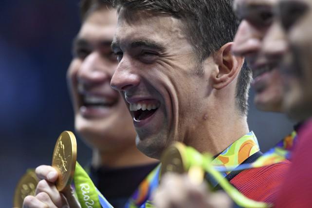 Athlète le plus médaillé de l'histoire, le nageur... (La Presse canadienne, Sean Kilpatrick)