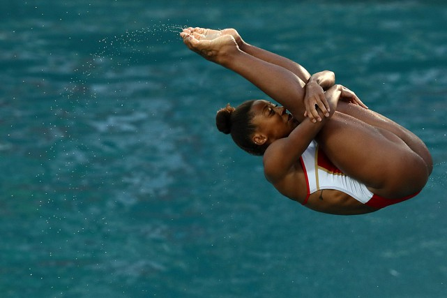 Jennifer Abel... (PHOTO STEFAN WERMUTH, REUTERS)