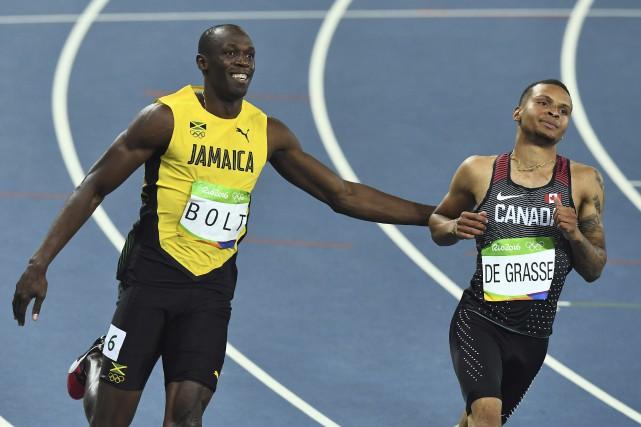 Le Canadien Andre De Grasse a terminé deuxième... (AFP, Jewel Samad)