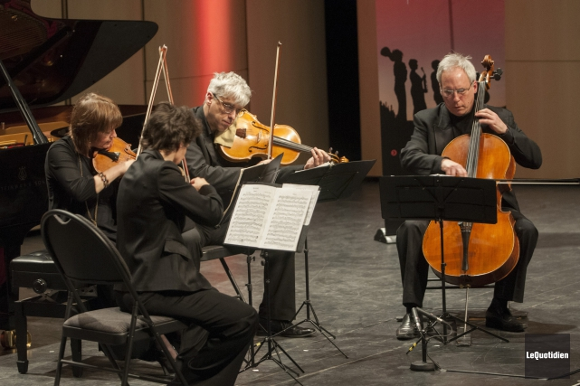 Le Quatuor Alcan.... (Archives Le Quotidien, Michel Tremblay)