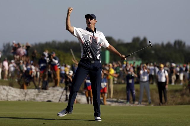 Justin Rose s'est imprégné de l'esprit olympique dès... (AP, Alastair Grant)