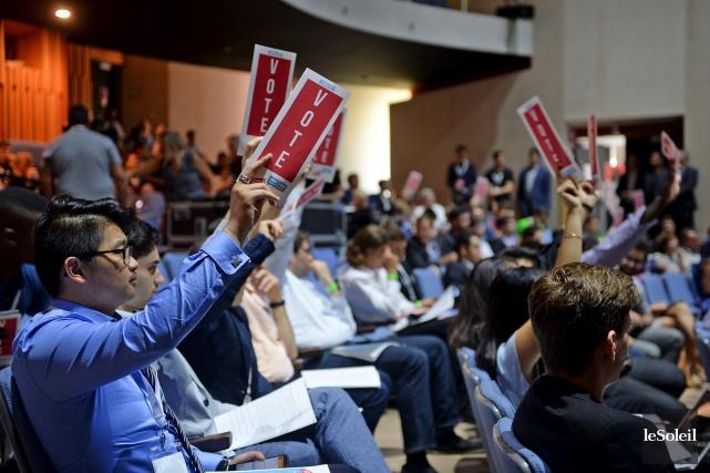 Les jeunes libéraux, réunis en congrès, ont battu... (Le Soleil, Erick Labbé)