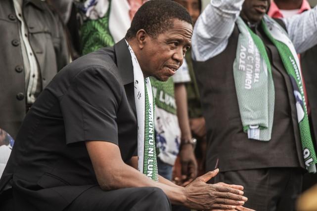 Le président zambien Edgar Lungu.... (Photo Gianluigi Guercia, archives Agence France-Presse)