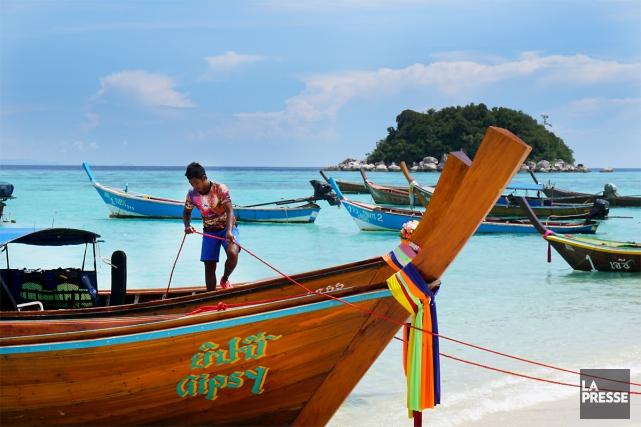 La petite île - 2 km2- de Koh... (PHOTO AUDREY RUEL-MANSEAU, LA PRESSE)