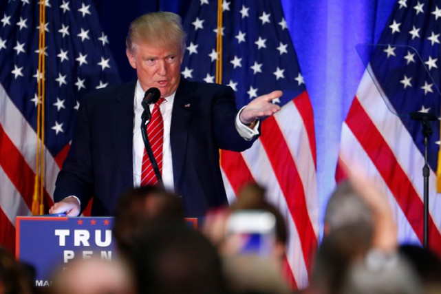 Donald Trump a prononcé lundi un discours portant... (PHOTO REUTERS)
