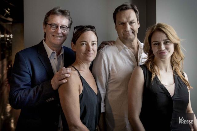 Marc Messier, Pascale Bussières, Benoît Gouin et Lucie... (La Presse, Marco Campanozzi)