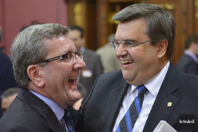 Les maires de Québec et de Montréal, Régis... (PHOTOthèque Le soleil, Yan doublet)