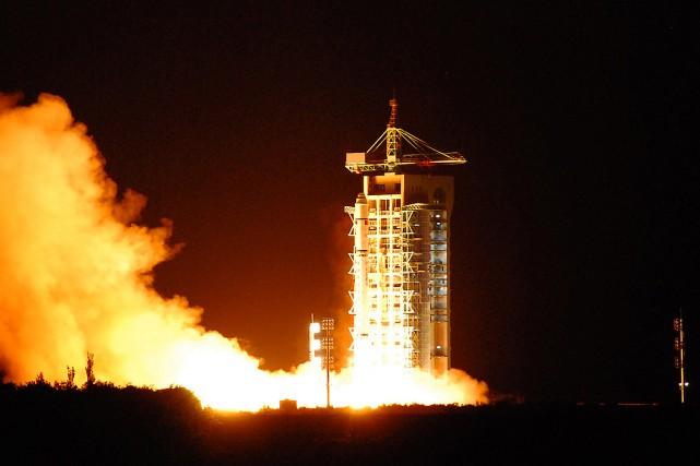 Le satellite --nommé Mozi en l'honneur d'un philosophe... (PHOTO STR VIA AFP)