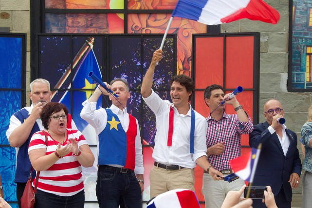Lundi, Justin Trudeau a célébré la Fête nationale... (Photo Ron Ward, archives PC)