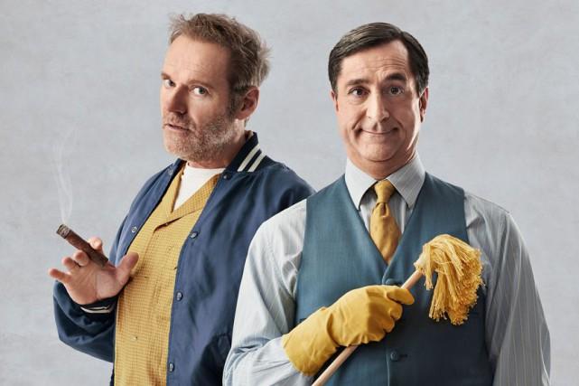 Luc Guérin et Martin Drainville incarnent des colocataires... (photo fournie par le Théâtre du Vieux-Terrebonne)