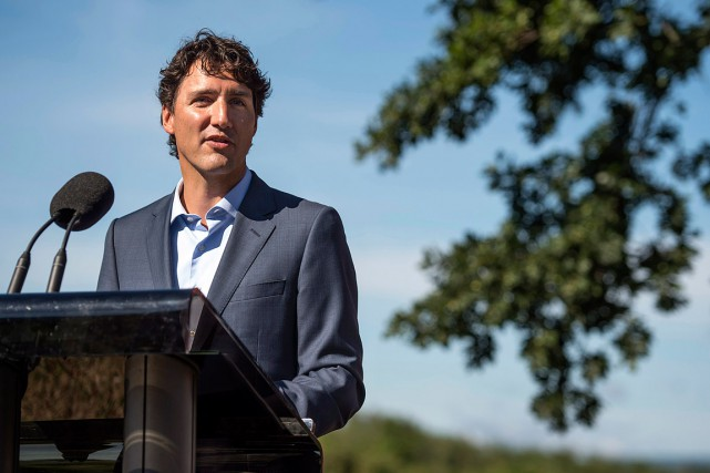 Mardi matin, M. Trudeau était en Nouvelle-Écosse pour... (Photo Darren Calabrese, PC)