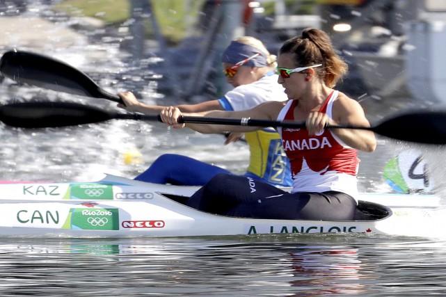 Sixième de la finale B, Andréanne Langlois complète... (AP)