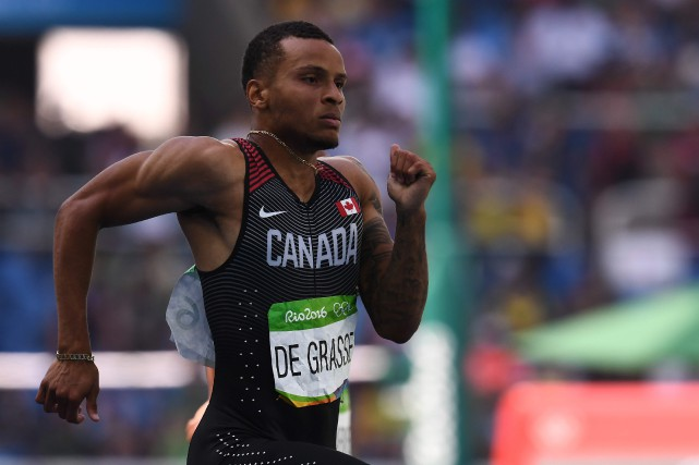 Andre De Grasse... (Photo Jewel Samad, AFP)