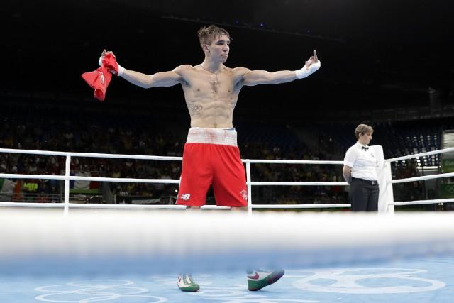 Le boxeur irlandais Michael Conlan avait fait un... (Photo Jae C. Hong, AP)
