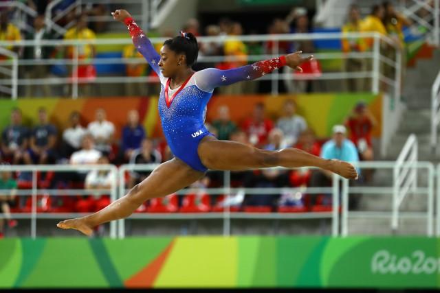 La gymnaste américaineSimone Bilesa gagné le concours des... (Photo Mike Blake, REUTERS)