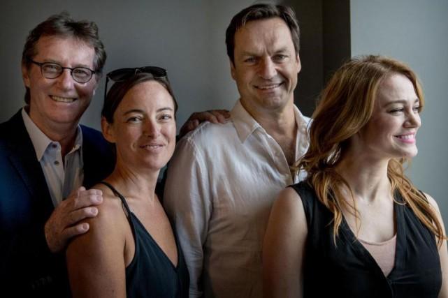 Marc Messier, Pascale Bussières, Benoît Gouin et Lucie... (PHOTO MARCO CAMPANOZZI, LA PRESSE)