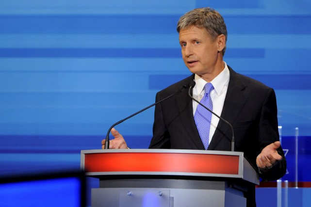 Le chef du Parti libertarien, Gary Johnson.... (The New York Times)
