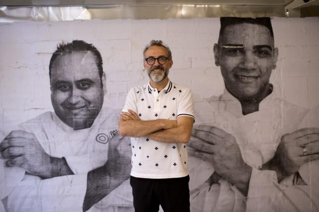 Le chef italien Massimo Bottura a créé le... (Photo Silvia Izquierdo, AP)