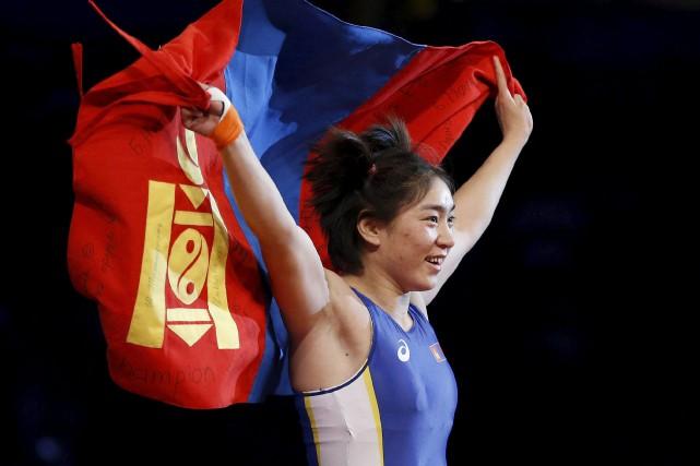 Battsetseg Soronzonbold est maintenant une célébrité en Mongolie,... (AP, John Locher)
