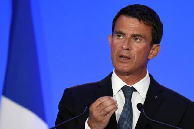Le premier ministre français Manuel Valls.... (PHOTO AFP)