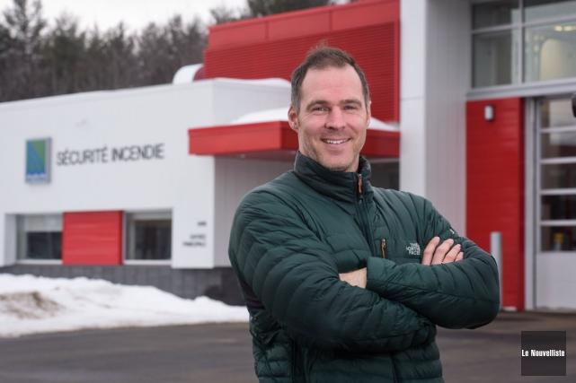 En mars dernier, le pompier et ex-athlète olympique... (François Gervais, Le Nouvelliste)