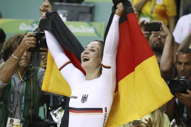 L'Allemande Kristina Vogel a remporté l'or à l'épreuve... (AFP, Odd Andersen)